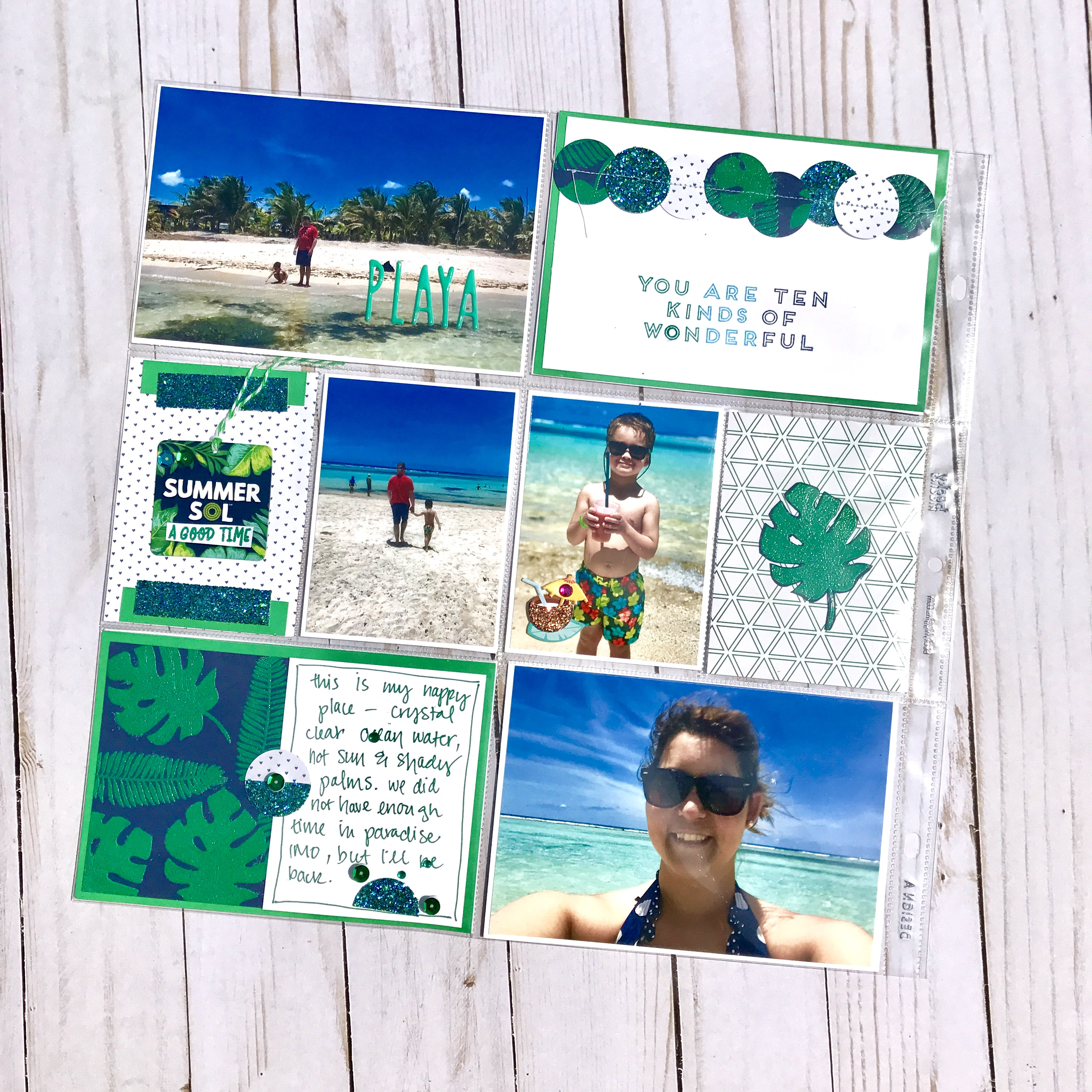Scrapbooking with Frond of You Stamp Set