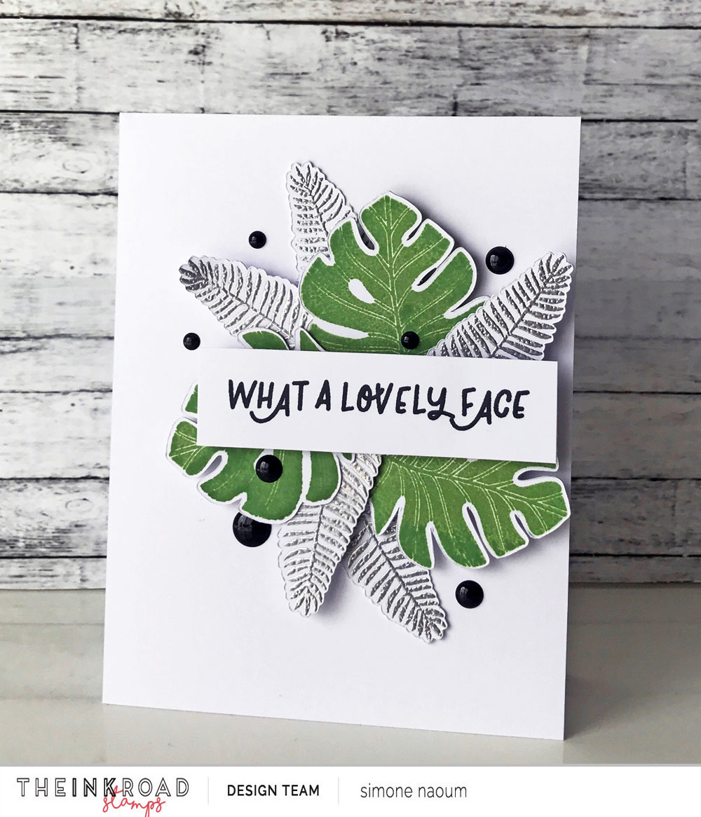 Today Simone is sharing a summery layered card using the Frond of You stamp set.