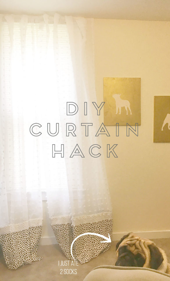 DIY No-Sew, No-Hang Curtains