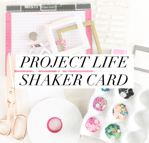 Project Life Shaker Card