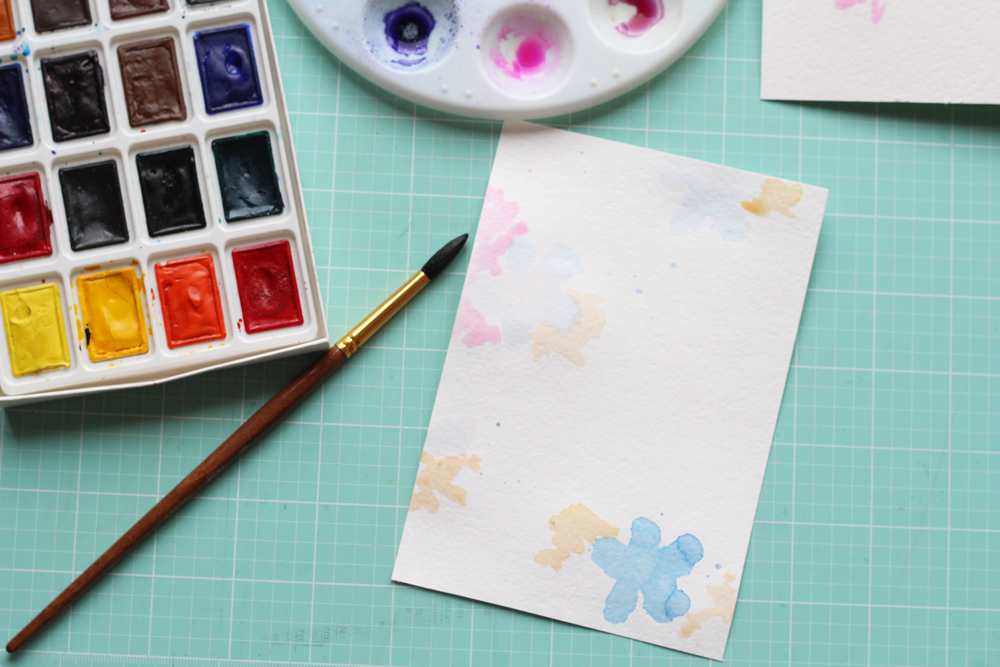 Hey everyone, it's Darya! Today we're gonna make watercolor card with Beautiful mess stamp set.Watercolor flowers