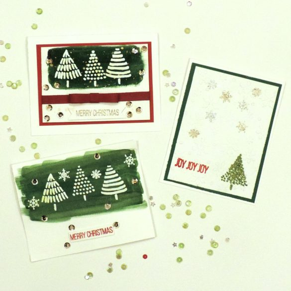 Hello my stampy friends! Lisa here, and I have some fun, simple Christmas cards to share with you today featuring BOTH of the newest stamps sets in the shop!