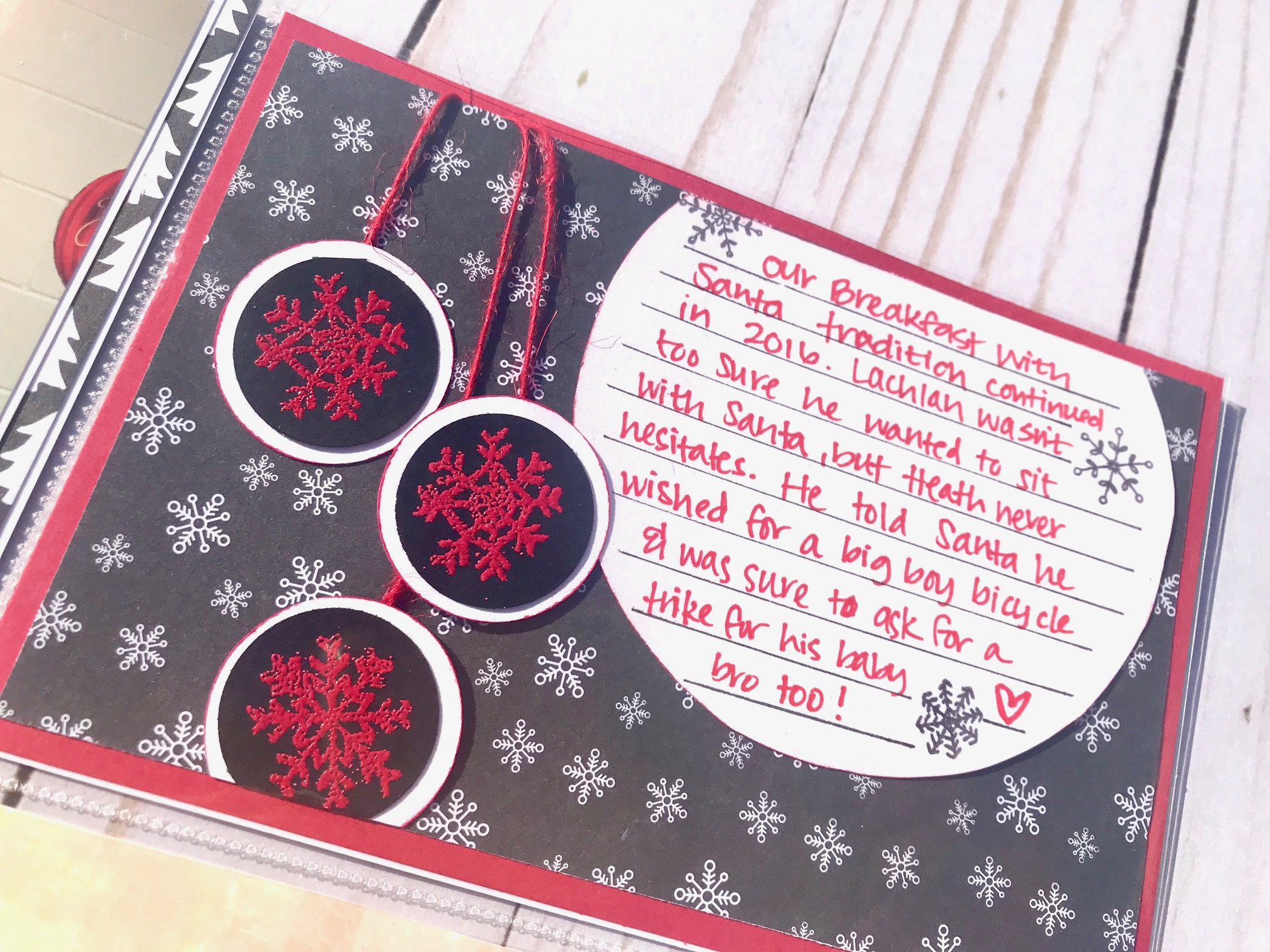 #stamping #embossing #happyholladays #Christmas #Christmasscrapbook #Christmasstamping