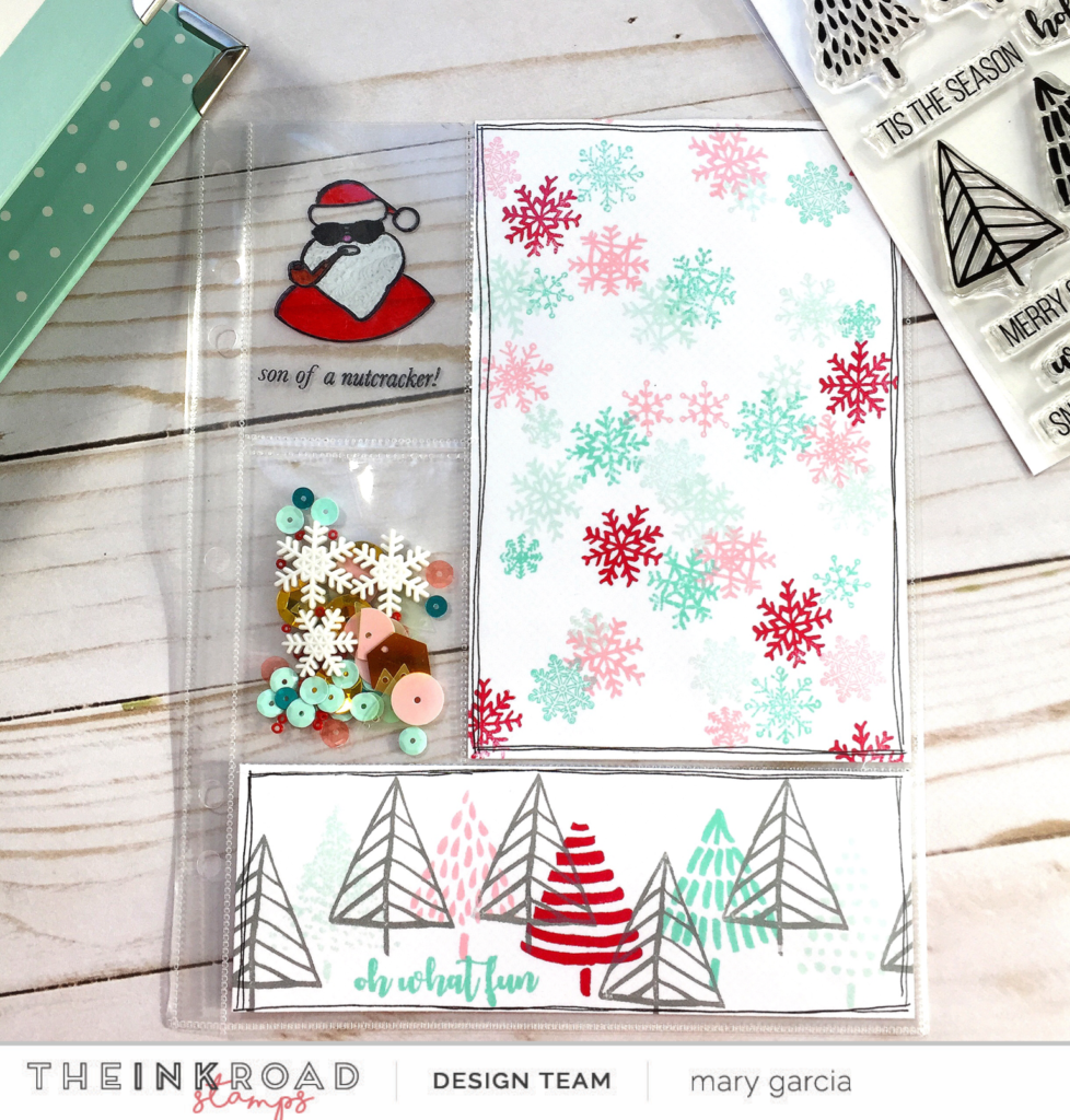 christmas album foundation page with mary the ink road