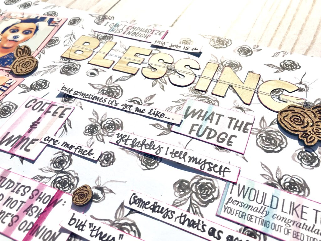 Use your stamp sentiments as journaling prompts to tell your story in your scrapbook! #stamping #journaling #storytelling