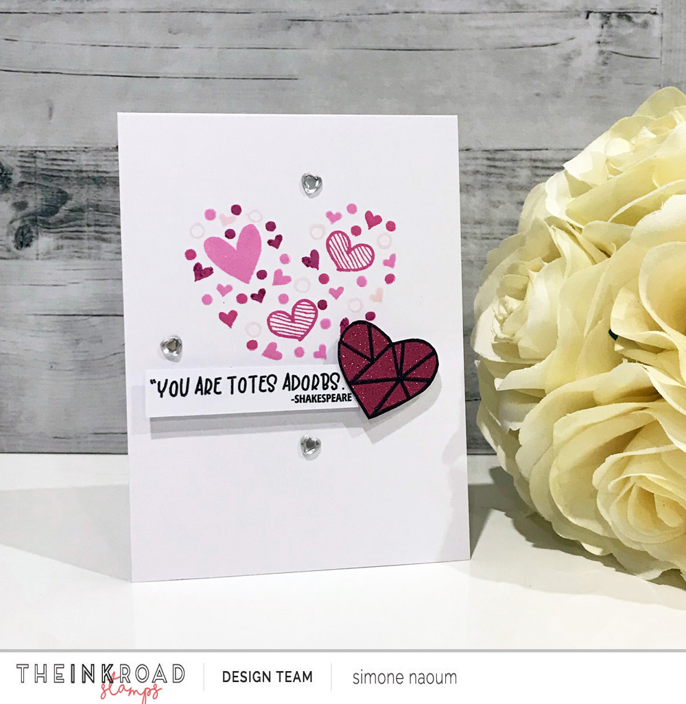Today's card shows you how to use those tiny stamp images included in stamp sets to create something bigger.