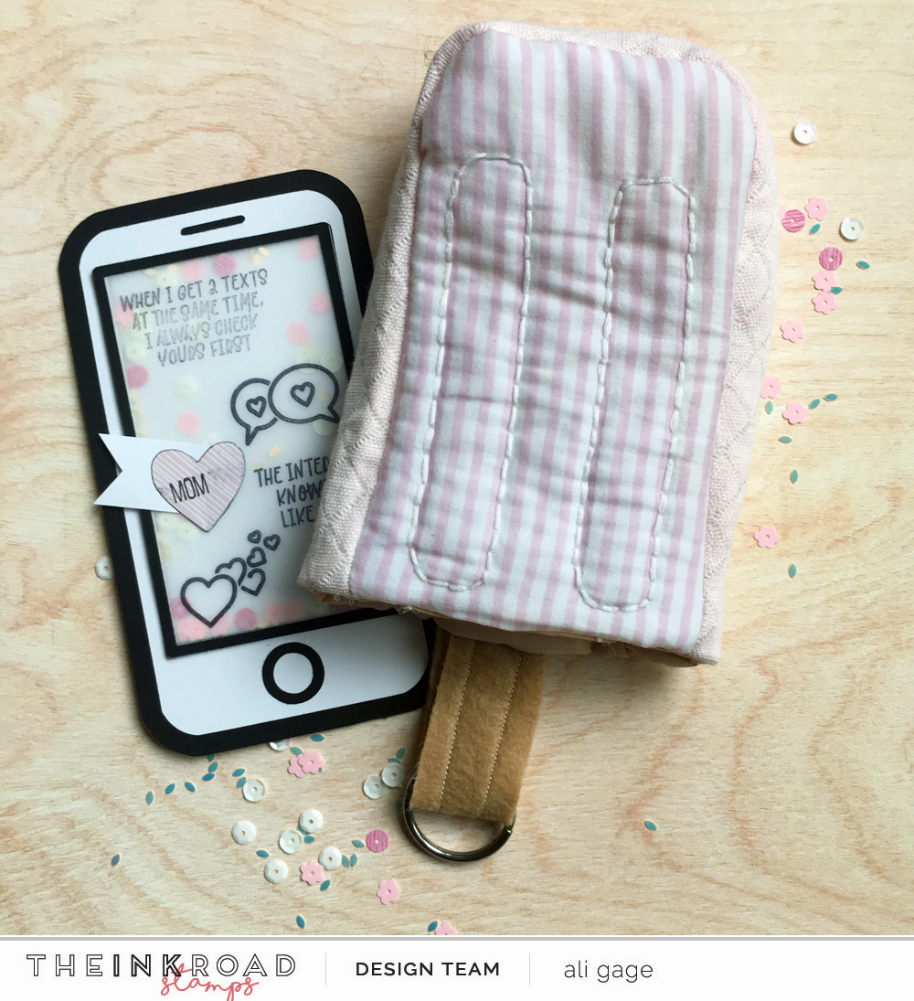 You guys! I can't even! I made this adorable little popsicle phone case for my mom...and thought...this is missing something. So, behold, a little shaker phone card to go inside her gift.