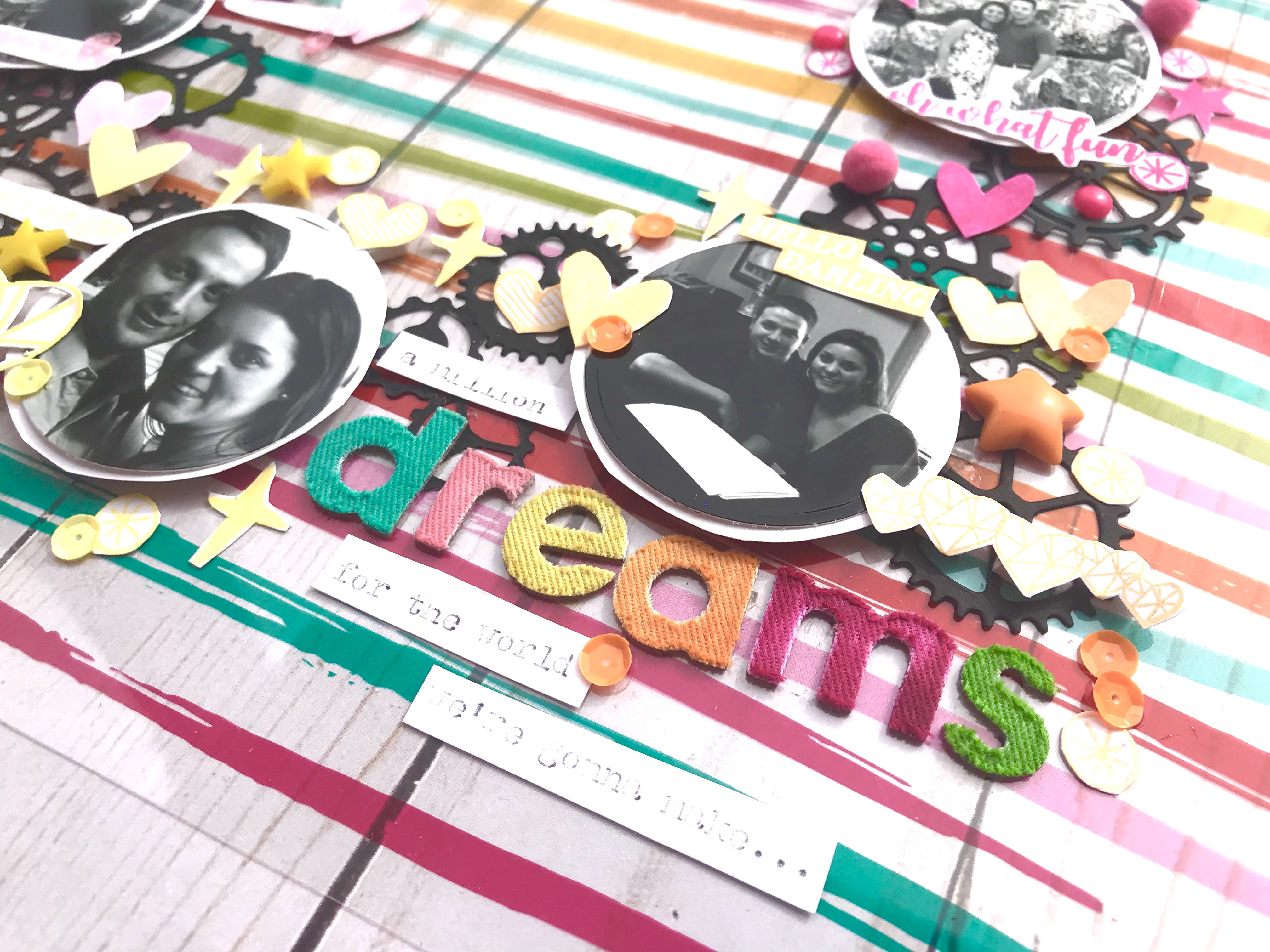 #stamping #diecuts #rainbow